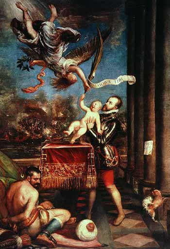 Allegory of the Battle of Lepanto by Titian